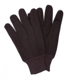 BROWN JERSEY GLOVES (PR) J124-UNTAG 9OZ MC6230